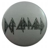 Def Leppard - 'Logo Silver' Button Badge